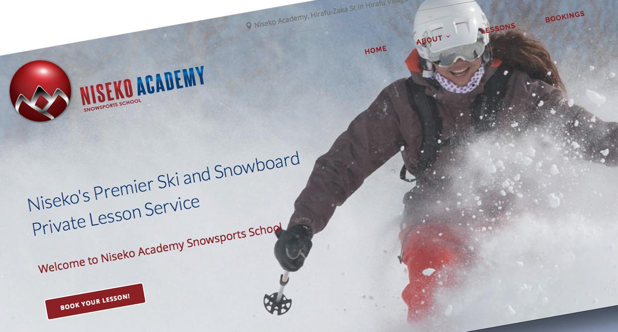 Niseko Ski School HP screenshot